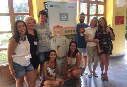 Grupo de monitores y responsables de la Universidad de Granada en el INnetCampus UGR 2017