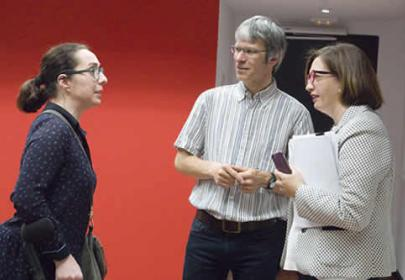 Reunión de socios: Isabel Martinez (Fundación ONCE) Dominiek Timmermans (AP University College ) Ester Bueno (Fundación ONCE)