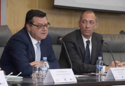 D. José Luis Martinez Donoso, director general Fundación ONCE.D. José Manuel Gonzalez Canino, director de la Unidad de Educación Superior del Servicio Español para la Internacionalización de la Educación (SEPIE).