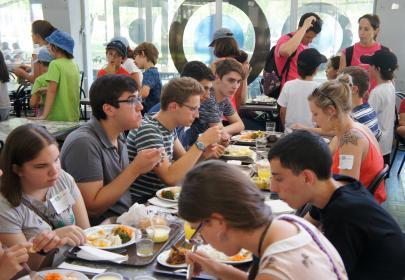 INnetCampus Lisboa, comiendo juntos.
