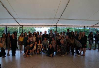 INnetCampus Lisboa 2017. Foto grupo presidente de la república